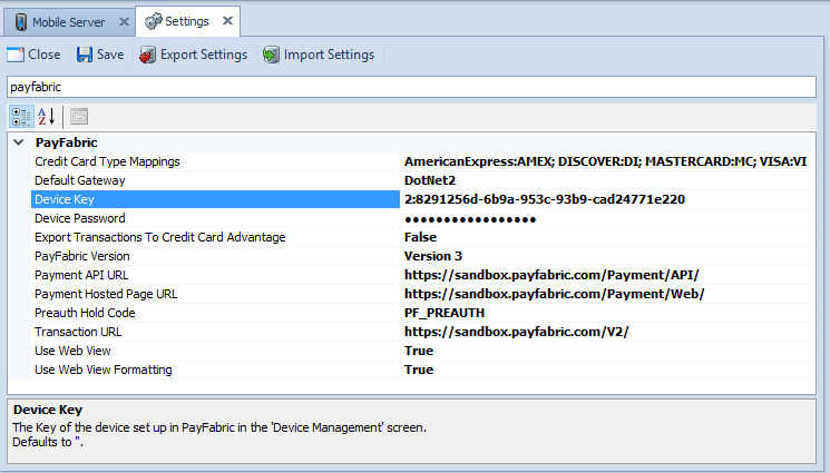 PayFabric V3 and EMV Processing in SalesPad Mobile