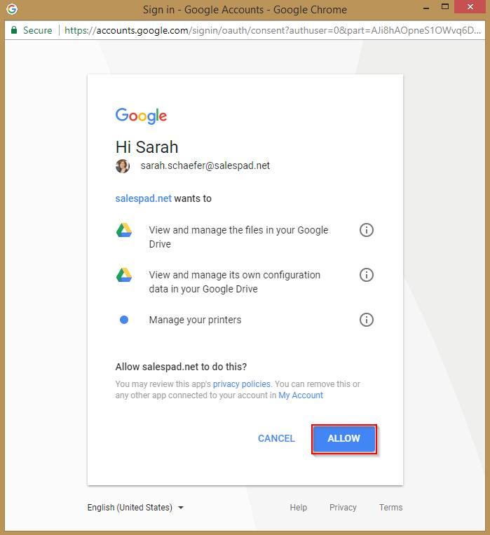Google Drive Integration - SalesPad Support