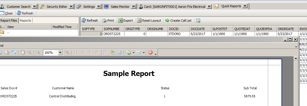 Using Report Designer For Quick Reports - SalesPad Support