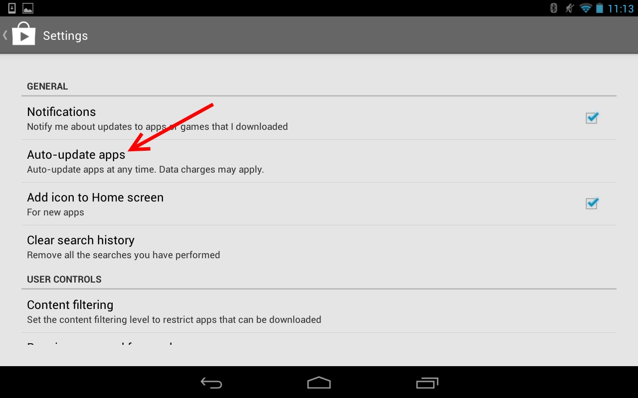 Disabling Automatic Updates Android - SalesPad Support